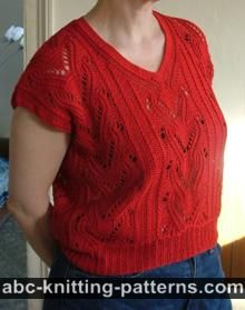 Knitted Red Summer Top