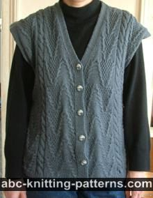 Grey Vest with Cables