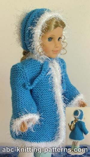 Faux Fur Trimmed Coat for American Girl Doll