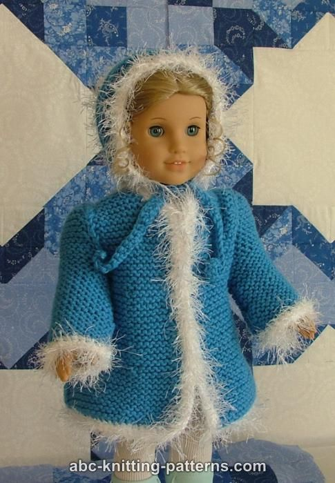Abc Knitting Patterns Faux Fur Trimmed Coat For American Girl Doll
