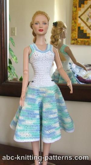 Abc Knitting Patterns Crochet Summer Dress For Fashion 16 Inch