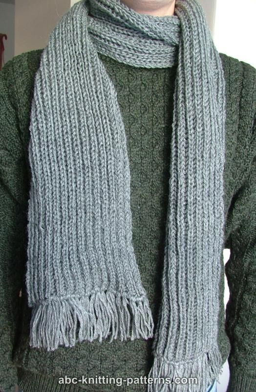 Abc Knitting Patterns Fishermans Rib Scarf