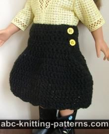 American Girl Doll Yoke Skirt