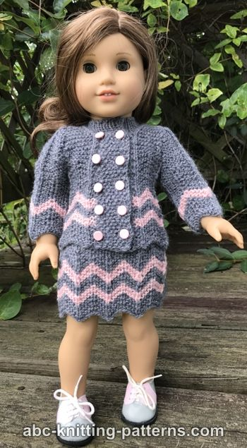 American Girl Doll Chevron Jacket