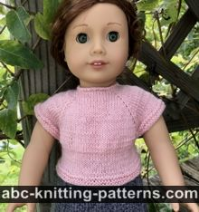 American Girl Doll Knitted Top