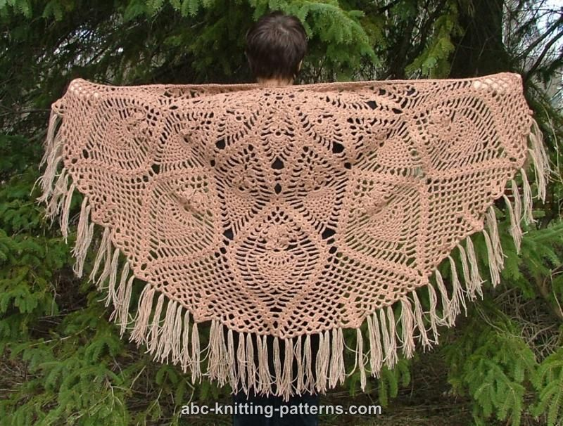 Free Pattern for Pineapple Shawl ~ Crochet - Knitting Forum