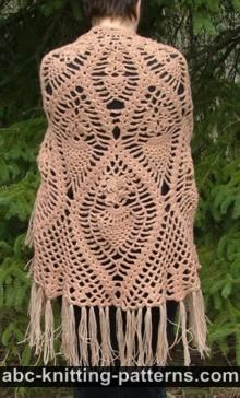 Soft Crochet Wrap - Christmas Crafts, Free Knitting Patterns, Free