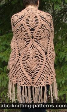 Abc knitting patterns crochetshawls semi circle pineapple shawl free shawl crochet pattern dt1010fo