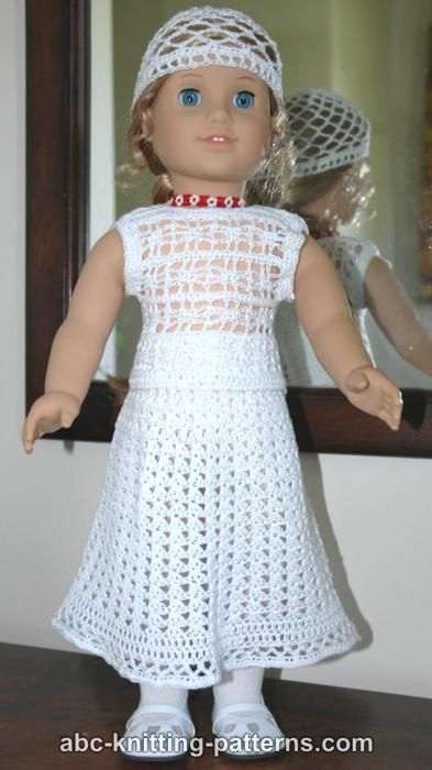 Abc Knitting Patterns For American Doll : ABC Knitting Patterns - American Girl Doll Lace Skirt