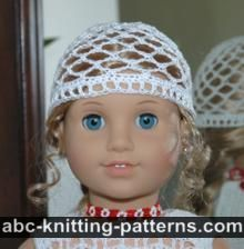 American Girl Doll Lace Hat