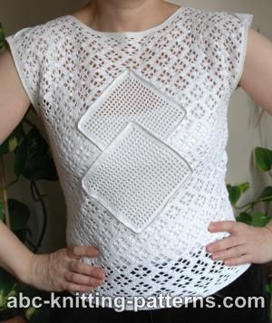 Lace Summer Top with Filet Inserts