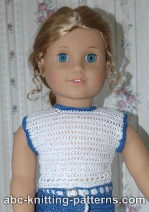 American Girl Doll Summer Top