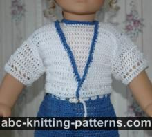 American Girl Doll Summer Cardigan