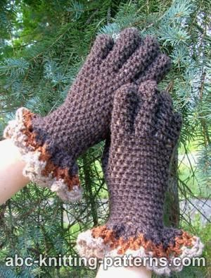 Gloves with Ruffle
