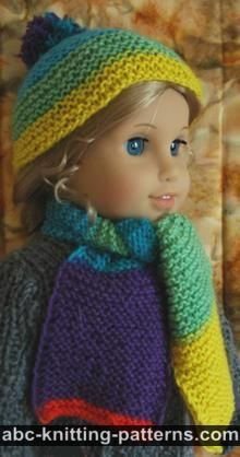 American Girl Doll Garter Stitch Scarf
