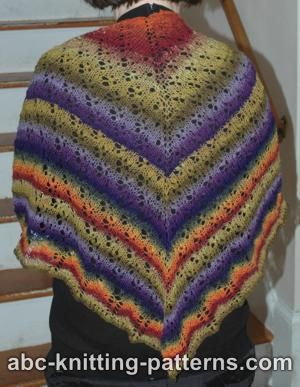 Free Knitting Patterns Noro Yarn : ABC Knitting Patterns - Noro Sock Yarn Lace Shawl