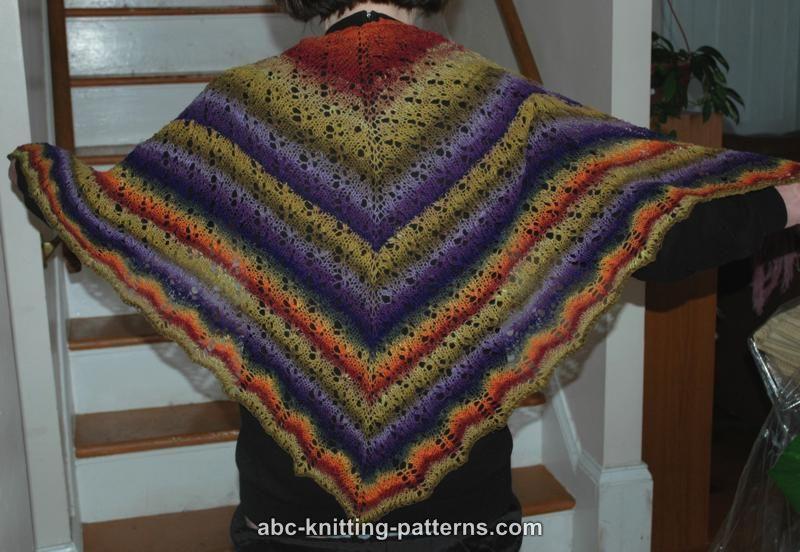 ABC Knitting Patterns - Noro Sock Yarn Lace Shawl
