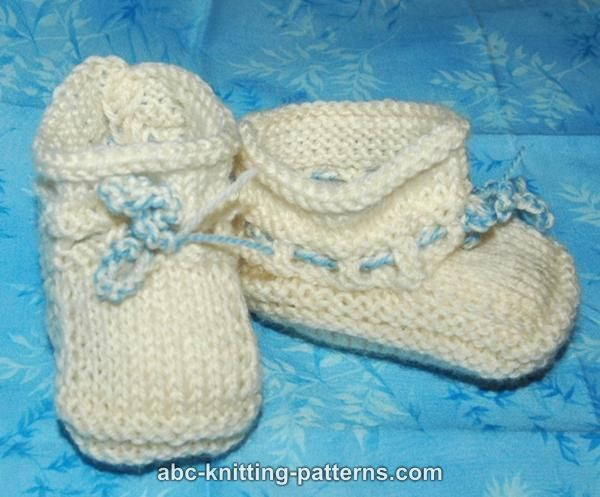 Free Easy Baby Booties Knitting Pattern : KNITTING BOOTIE PATTERNS   Free Patterns