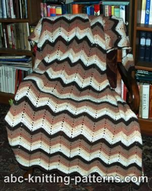 Free Crochet Pattern 80851AD Simple Ripple Baby Afghan : Lion