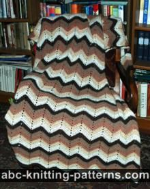 Abc Knitting Patterns Lace Ripple Afghan : ABC Knitting Patterns - Lace Ripple Afghan