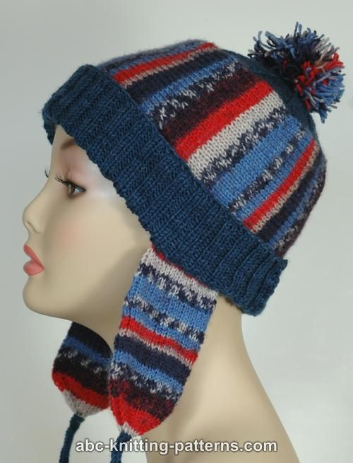 Abc Knitting Patterns Fair Isle Earflap Hat