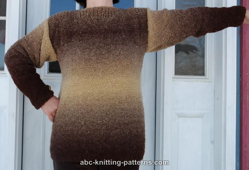 Abc Knitting Patterns Basic Sweater With Boatneck Collar