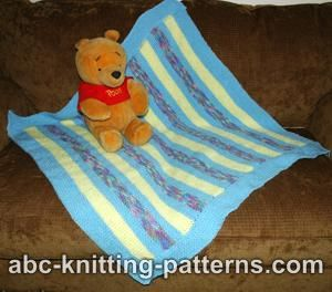 Abc Knitting Patterns Baby Booties : ABC Knitting Patterns - Easy Garter Stitch Baby Blanket