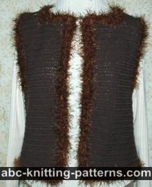 Fun Fur Crochet Vest