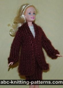 Barbie Elegant 2-Piece Suit (Long Coat and Skirt)