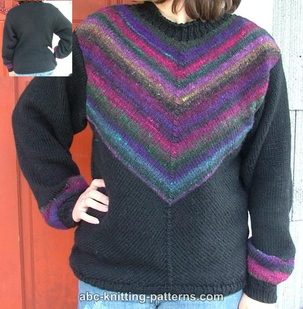 aeb1719ed322ed ABC Knitting Patterns - Diagonal Knit Noro Yarn Sweater