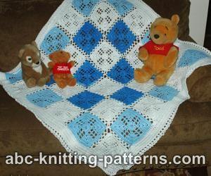 abc knitting patterns square motif baby blanket knitting yarns wool