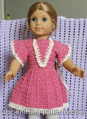 Abc Knitting Patterns American Girl Doll Crochet Summer Dress