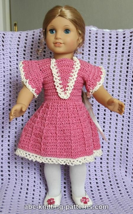 Abc Knitting Patterns American Girl Doll Crochet Summer Dress