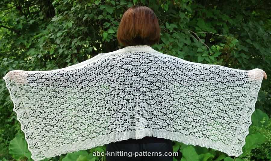 Abc Knitting Patterns Rectangle Lace Shawl