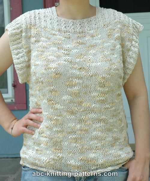 Summer Knitting Patterns : ABC Knitting Patterns - Katia Summer Top
