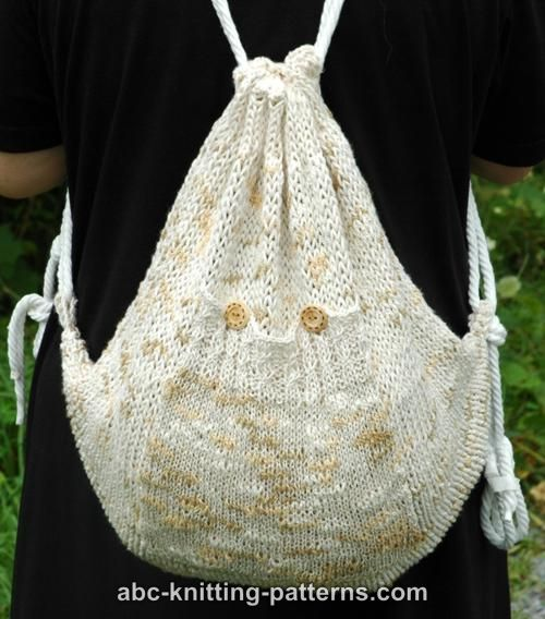 Knit Backpack Pattern : ABC Knitting Patterns - Katia Summer Backpack