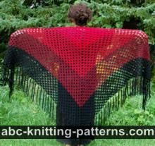 Flame and Ember Shawl