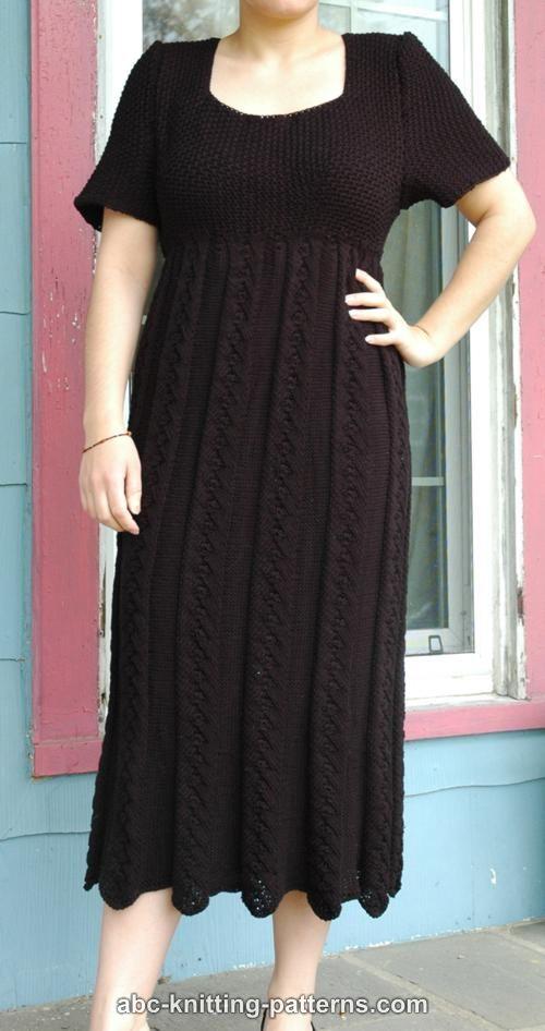 Abc Knitting Patterns Summer Empire Waist Dress