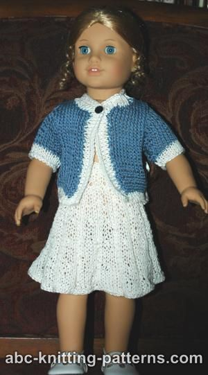 Abc Knitting Patterns American Girl Doll Elegant Suit