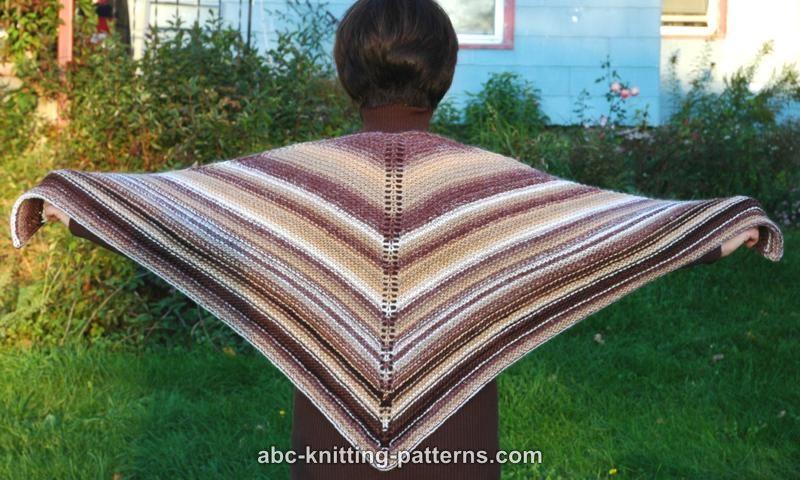 Abc Knitting Patterns Easy Garter Stitch Shawl