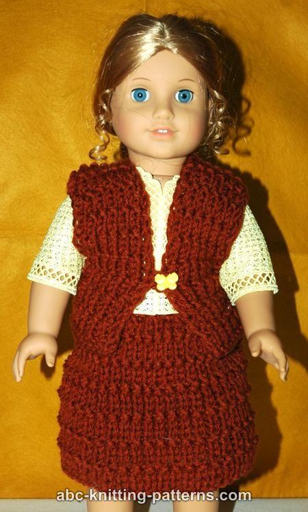 Doll Vest Knitting Pattern : ABC Knitting Patterns - American Girl Doll Vest