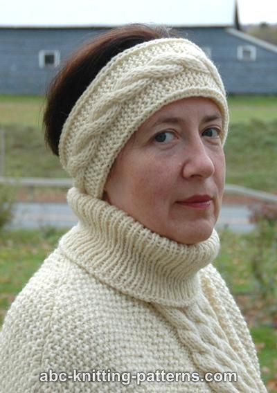 Cable Knit Headband Free Pattern : ABC Knitting Patterns - Headband with Cable