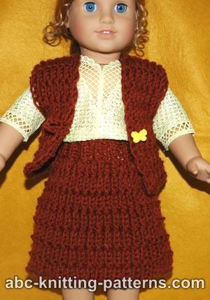 Abc Knitting Patterns American Girl Doll Skirt