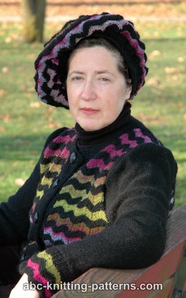 ABC Knitting Patterns - Noro Yarn Men Zipper Sweater.