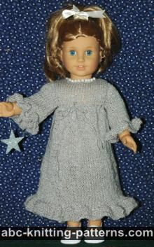 American Girl Doll Sparkling Dress with Empire Waistline