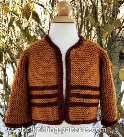 a2b729aa11e0 ABC Knitting Patterns - Easy Garter Stitch Baby Cardigan
