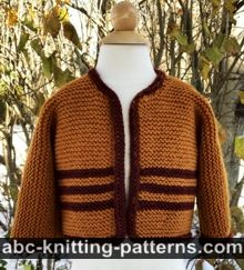 Easy Garter Stitch Baby Cardigan