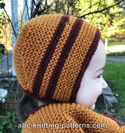 Knitting Needles Case Pattern : ABC Knitting Patterns - Garter Stitch Baby Bonnet