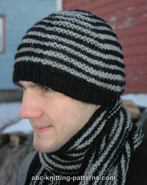 ABC Knitting Patterns - Shadow Knitting Hat