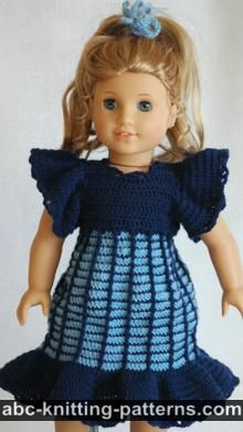 American Girl Doll Empire Waist Dress with Ruffles